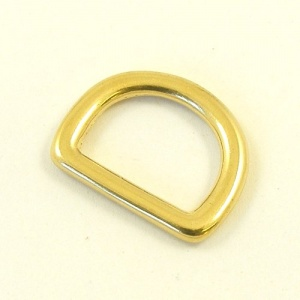 16mm 5/8'' Cast Brass Shallow D Ring